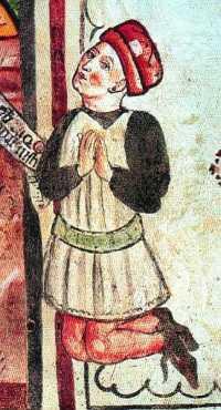 uomo in preghiera