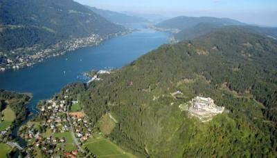 Landskron e Villach visti dall'alto