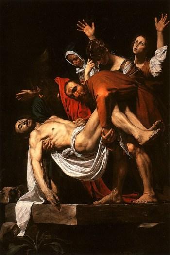 Caravaggio: la deposizione nel sepolcro