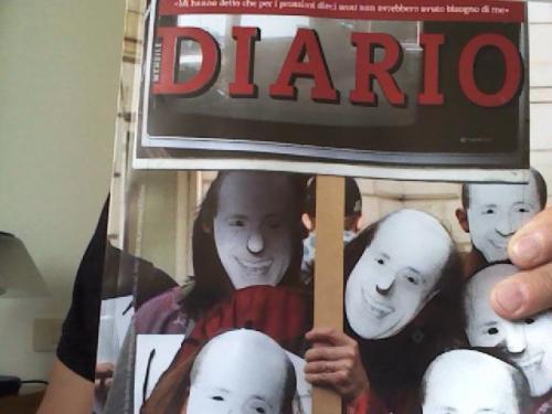 "Copertina di ""Diario"" di ottobre"