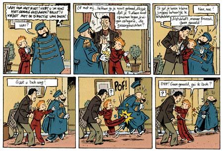 Una pagina di Spirou di Emile Bravo
