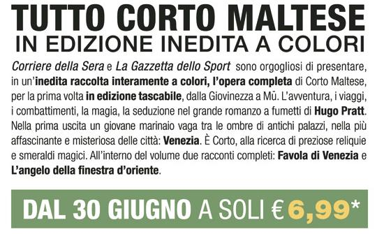 """Corto Maltese sul """"Corsera"""""""