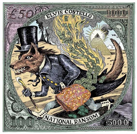 National Ransom / Elvis Costello by Tony Millionaire